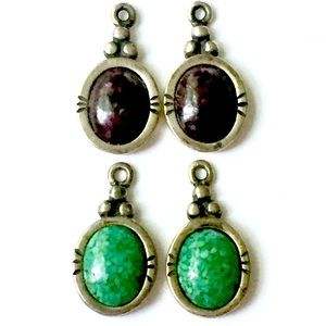 CAROLYN POLLACK Earring Charms Stone 925
